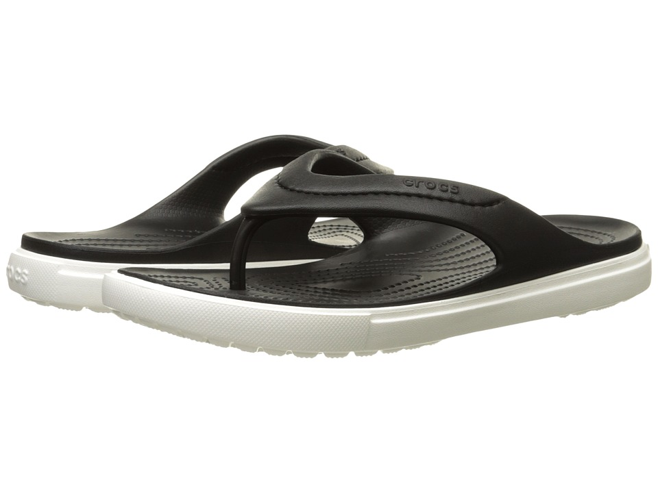 Crocs - CitiLane Flip (Black/White) Slide Shoes