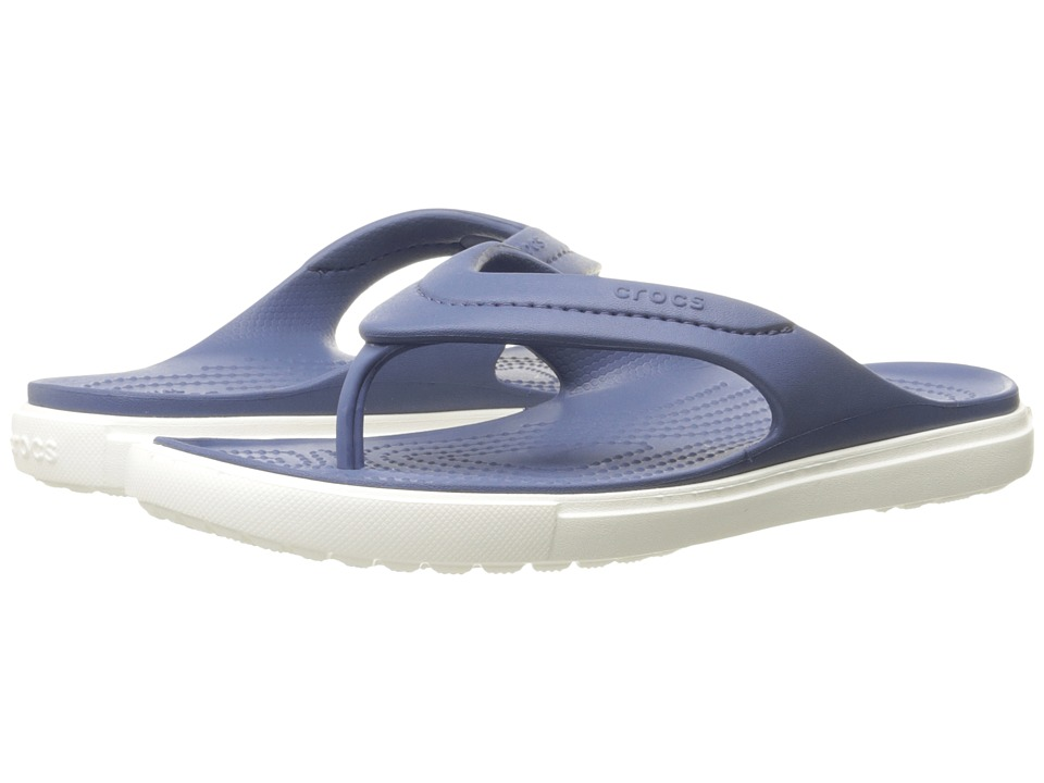 Crocs - CitiLane Flip (Bijiou Blue/White) Slide Shoes