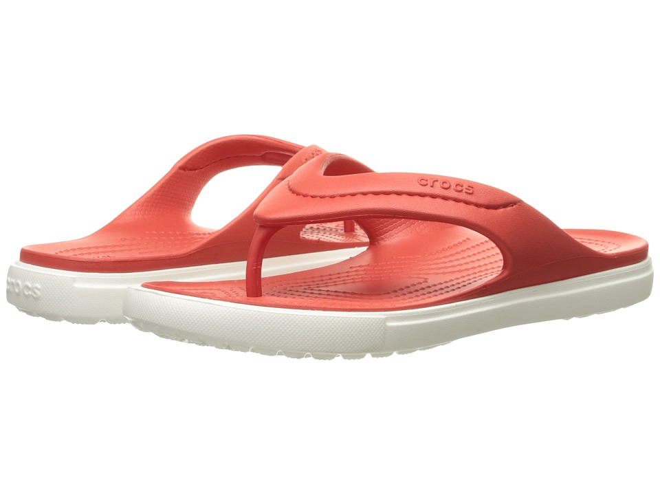 Crocs - CitiLane Flip (Flame/White) Slide Shoes