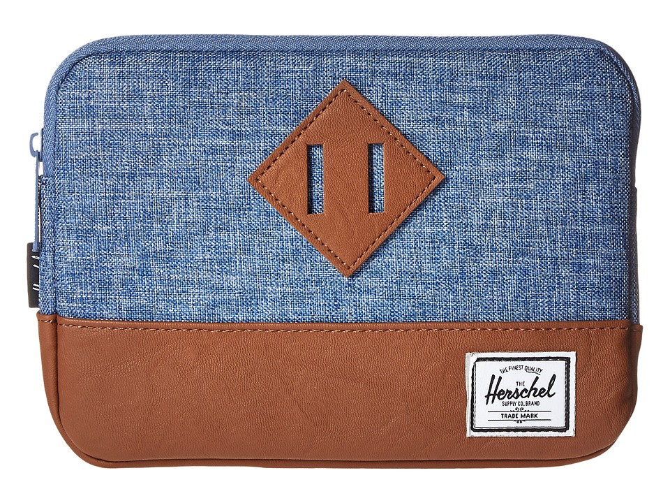 Herschel Supply Co. - Heritage Sleeve For iPad Mini (Limoges Crosshatch/Tan) Computer Bags