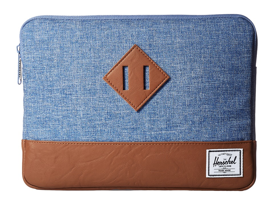 Herschel Supply Co. - Heritage Sleeve for iPad Air (Limoges Crosshatch/Tan) Wallet