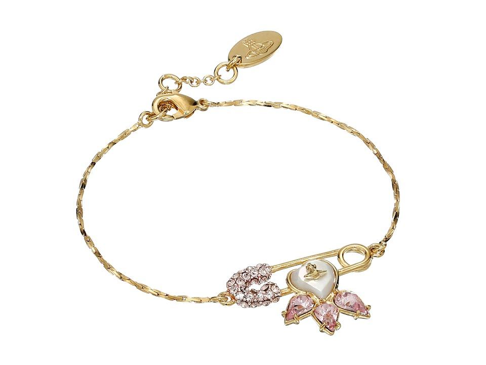 Vivienne Westwood Glitzy Jordan Bracelet Vintage Rose/Mother of Pearl Bracelet