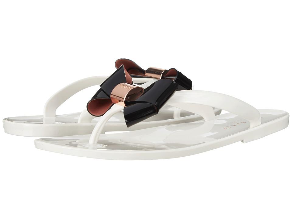 Ted Baker Ettiea Cream/Black PVC Womens Shoes