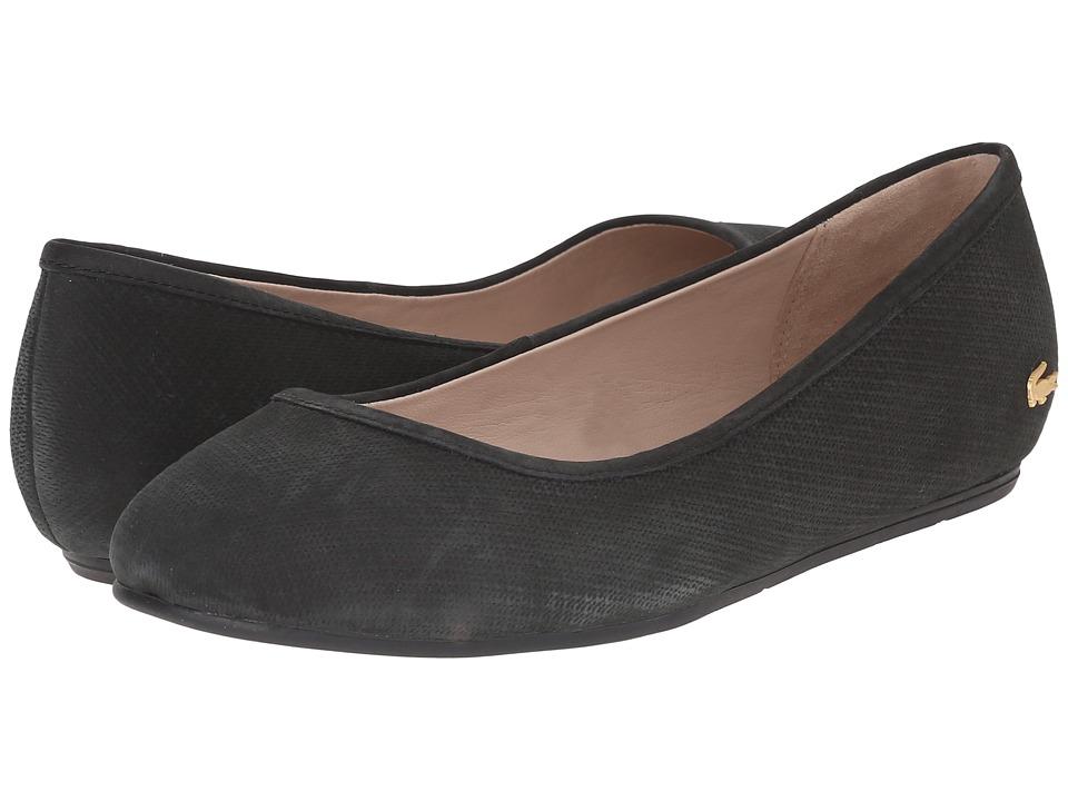 Lacoste Cessole Black Womens Flat Shoes