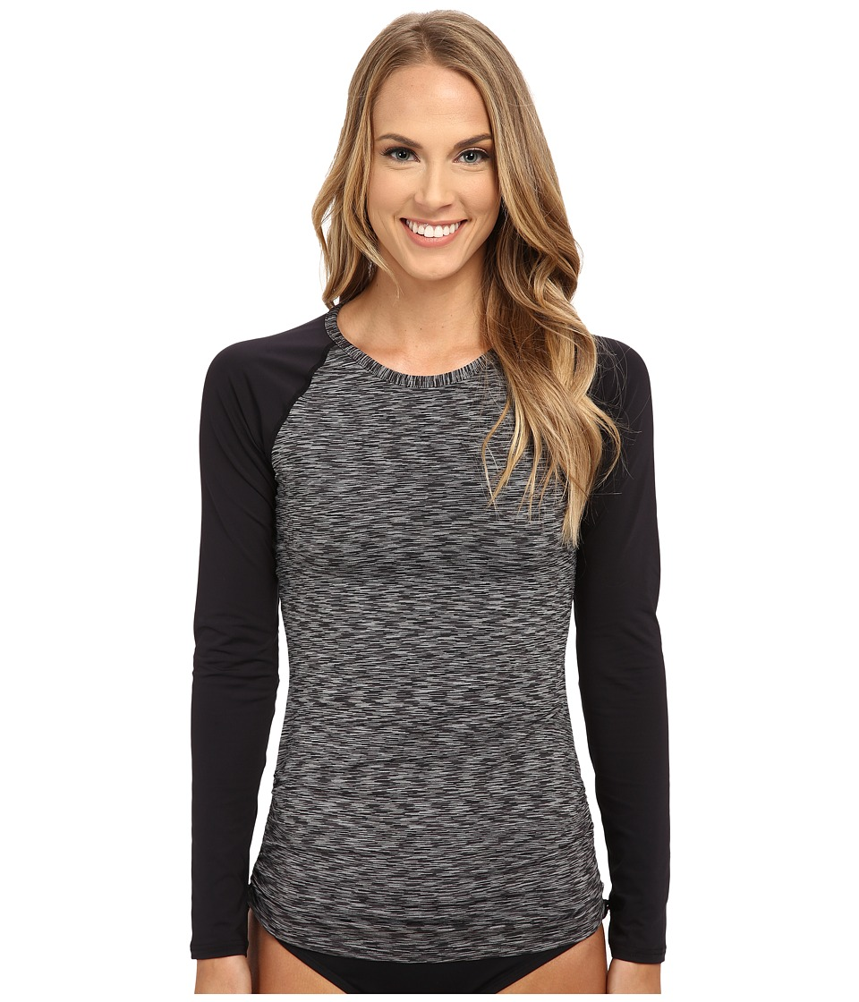 TYR Sonoma Long Sleeve Swim Shirt (Black) Women