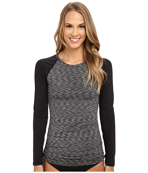 TYR - Sonoma Long Sleeve Swim Shirt (Black) Women's Swimwear