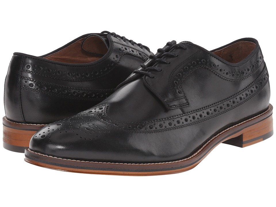 Johnston & Murphy Conard Wingtip (Black Italian Calfskin)...