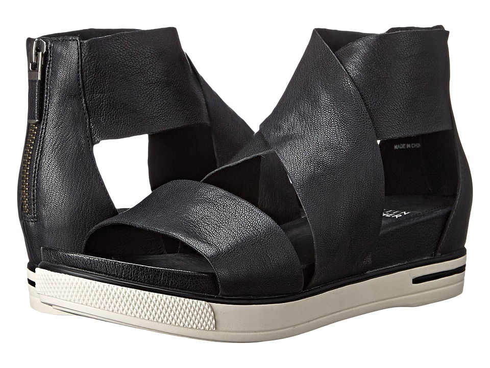 Eileen Fisher Sport (Black Tumbled Leather) Sandals