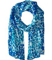Calvin Klein - Cheetah Spots Poly Chiffon Scarf