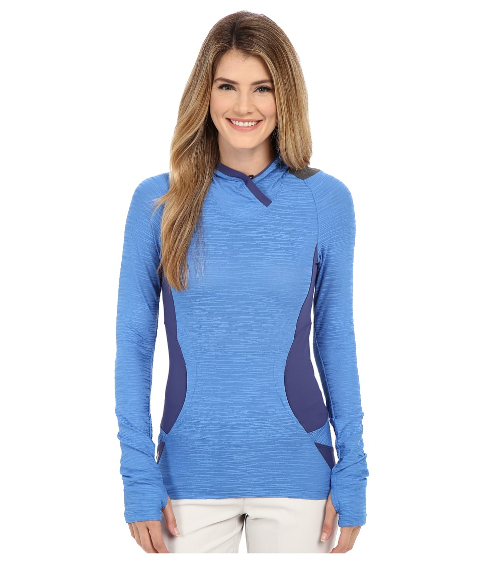 Pearl Izumi Flash Hoodie Sky Blue/Deep Indigo Womens Sweatshirt