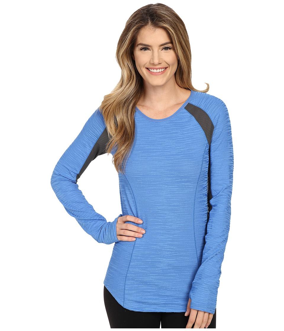 Pearl Izumi Flash Long Sleeve Shirt Sky Blue/Shadow Grey Womens Workout