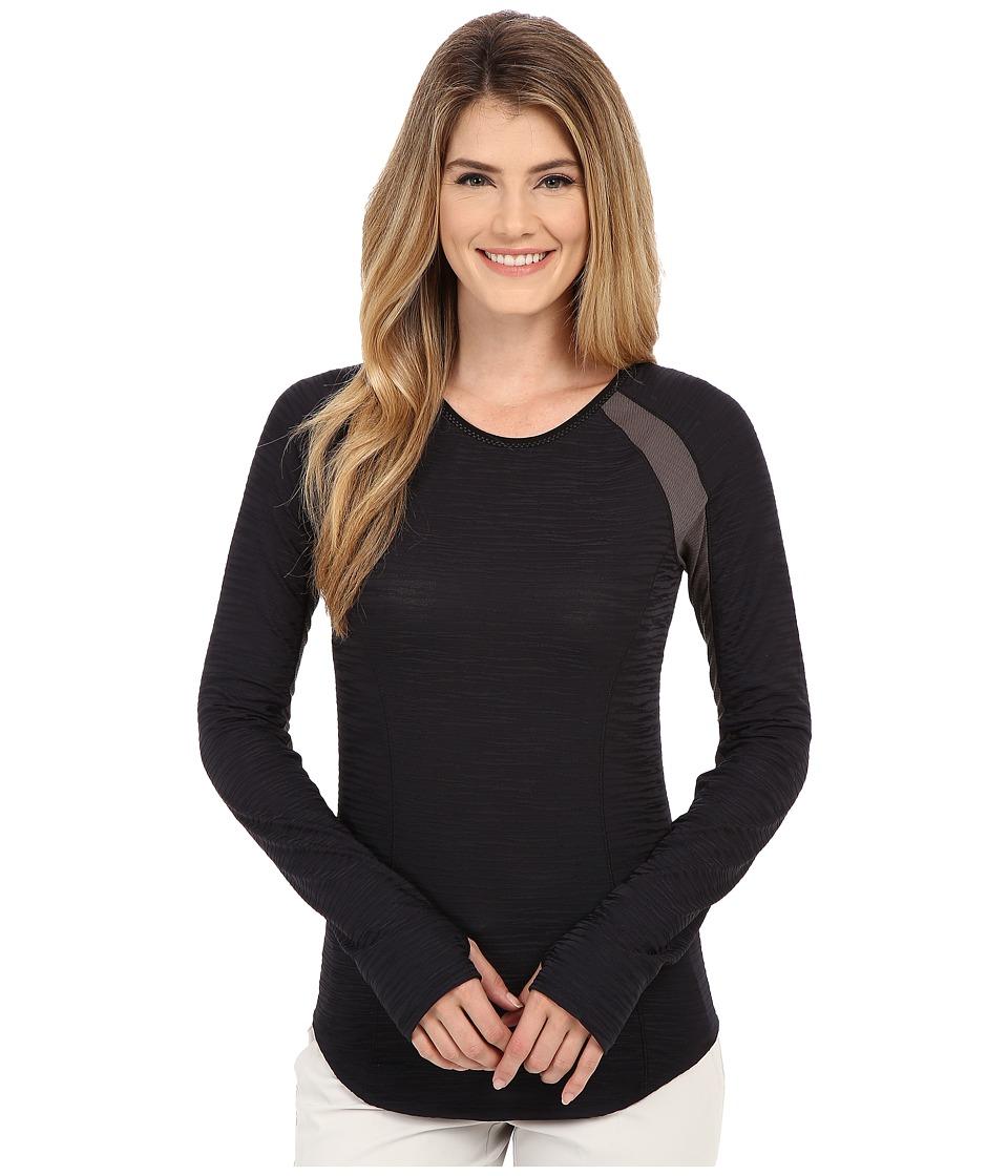 Pearl Izumi Flash Long Sleeve Shirt Black/Shadow Grey Womens Workout