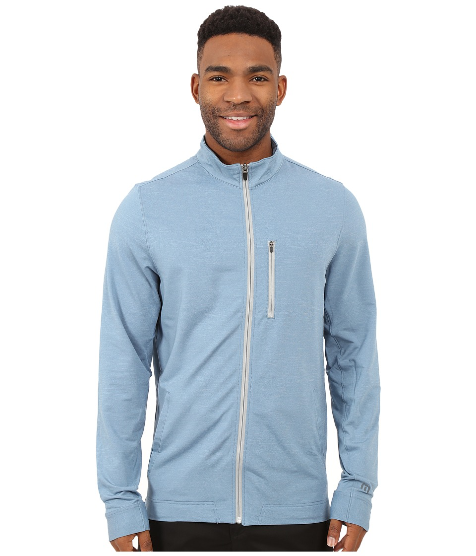 TravisMathew Tarpon Top Heather Provincial Blue Mens Coat