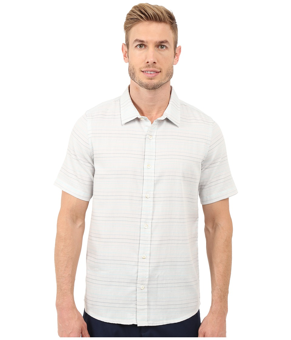 TravisMathew Long Board Top Lunar Rock Mens Short Sleeve Button Up