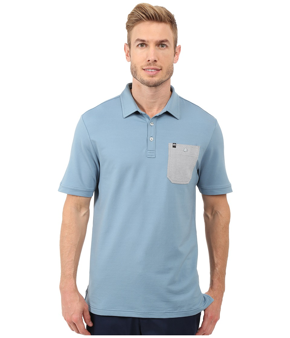 TravisMathew Lonie Top Provincial Blue Mens Short Sleeve Knit