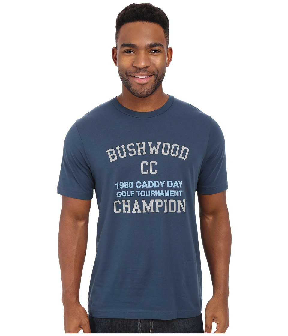 TravisMathew Bushwood T Shirt Dark Blue Grey Mens T Shirt