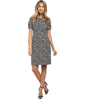 Adrianna Papell - Graphic Texture Printed Crepe Dress