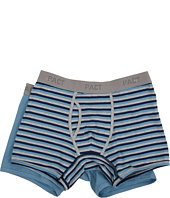 PACT - Everyday Shadow Blue/Blue Stripe Boxer Brief 2-Pack