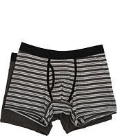PACT - Everyday Charcoal Heather/Grey Stripe Boxer Brief 2-Pack