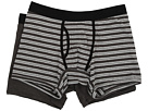 Everyday Charcoal Heather/Grey Stripe Boxer Brief 2-Pack