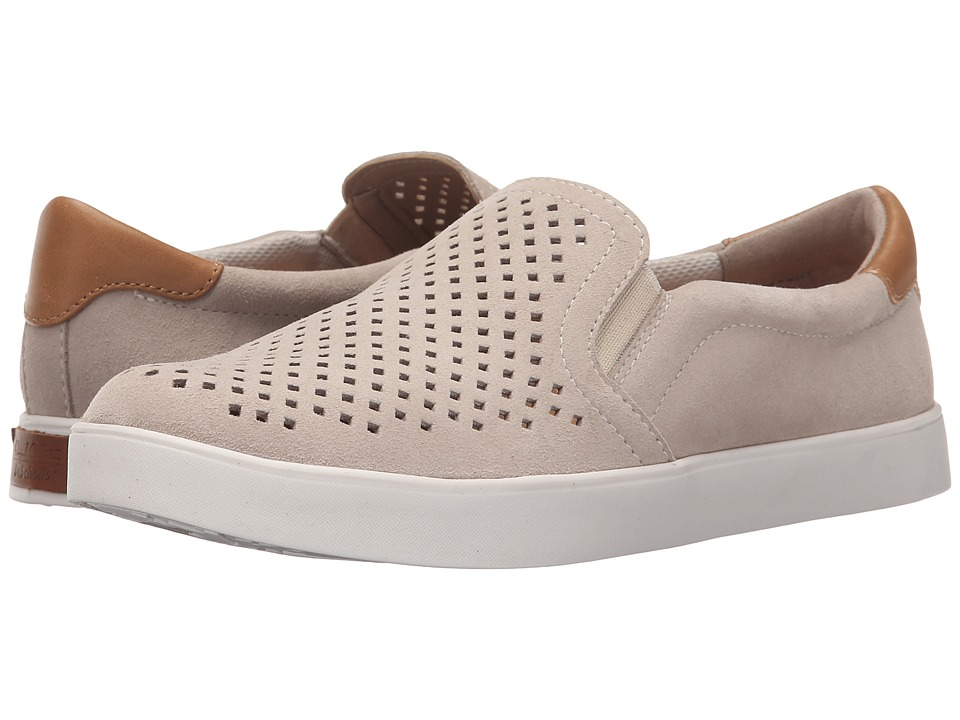 Dr. Scholls Scout Original Collection Bone Suede Punch Out Womens Flat Shoes