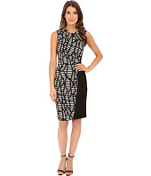 Anne Klein - Printed Techno Stretch Draped Combo Dress