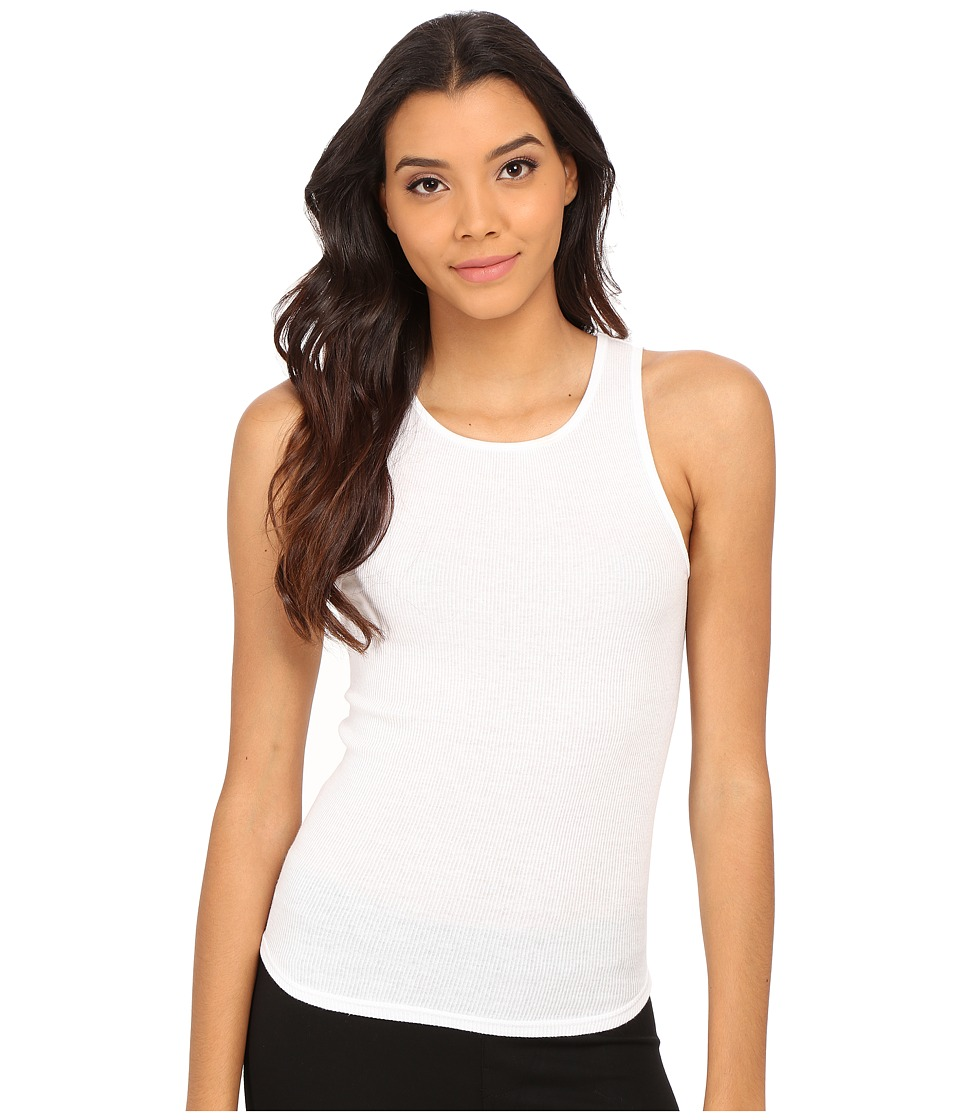 Free People High Neck Muscle Tank Top White Womens Sleeveless