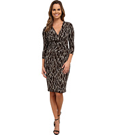 Anne Klein - Printed Jersey Draped Dress