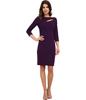 Anne Klein - Crepe Cutout Sheath Dress