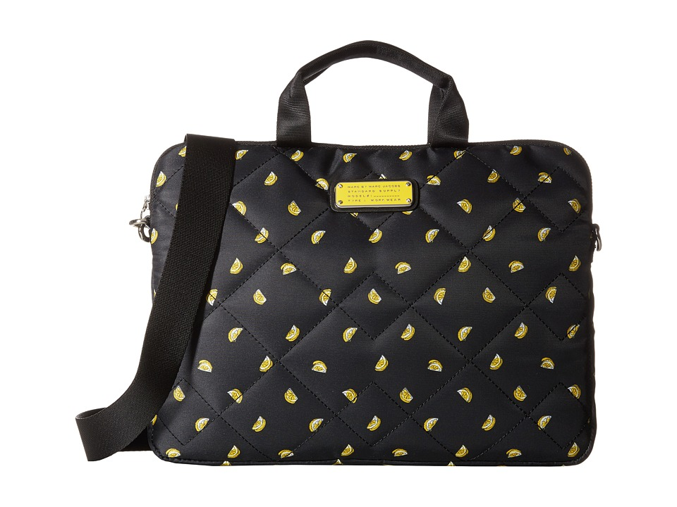 Marc by Marc Jacobs Crosby Quilt Fruit Tech 13 Commuter Bag Lemon Print Computer Bags