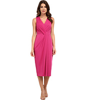 Anne Klein - Muir Jersey Sleeveless V-Neck Draped Dress