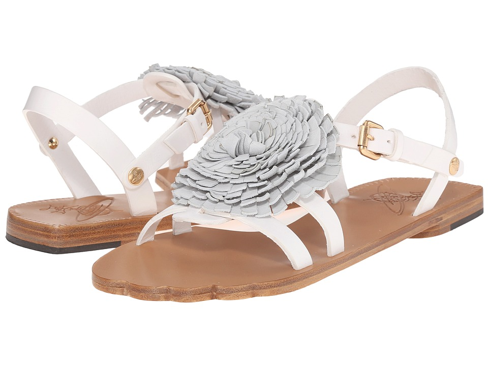 Vivienne Westwood Animal Toe Flat Sandal (White) Women