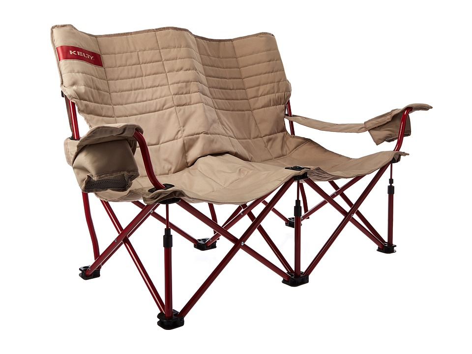Kelty - Low Loveseat Chair (Tundra/Chili Pepper) Outdoor Sports Equipment