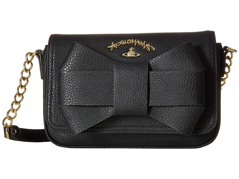 Vivienne Westwood - Braccialini Bow Bags Flap (Black) Bags