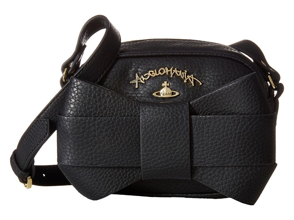 Vivienne Westwood - Braccialini Bow Bags Messenger Crossbody (Black) Cross Body Handbags