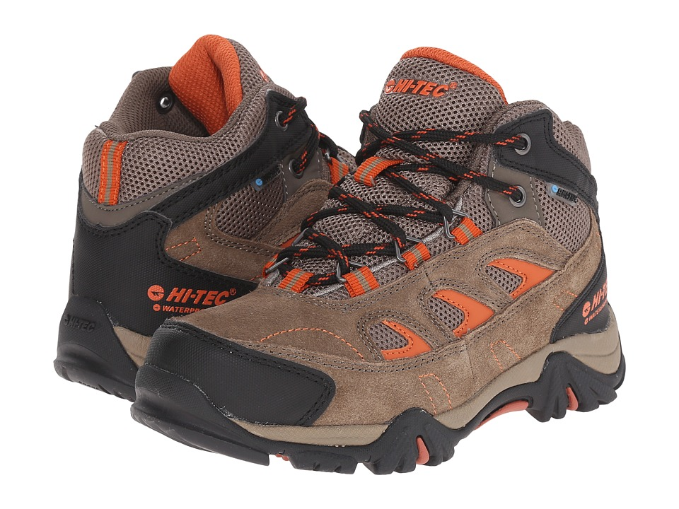 Hi Tec Kids Logan Waterproof Jr Toddler/Little Kid/Big Kid Smokey Brown/Red Rock Kids Shoes