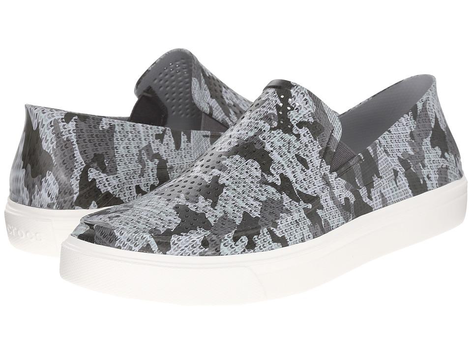 Crocs - CitiLane Roka Camo Slip-On (Graphite/White) Men