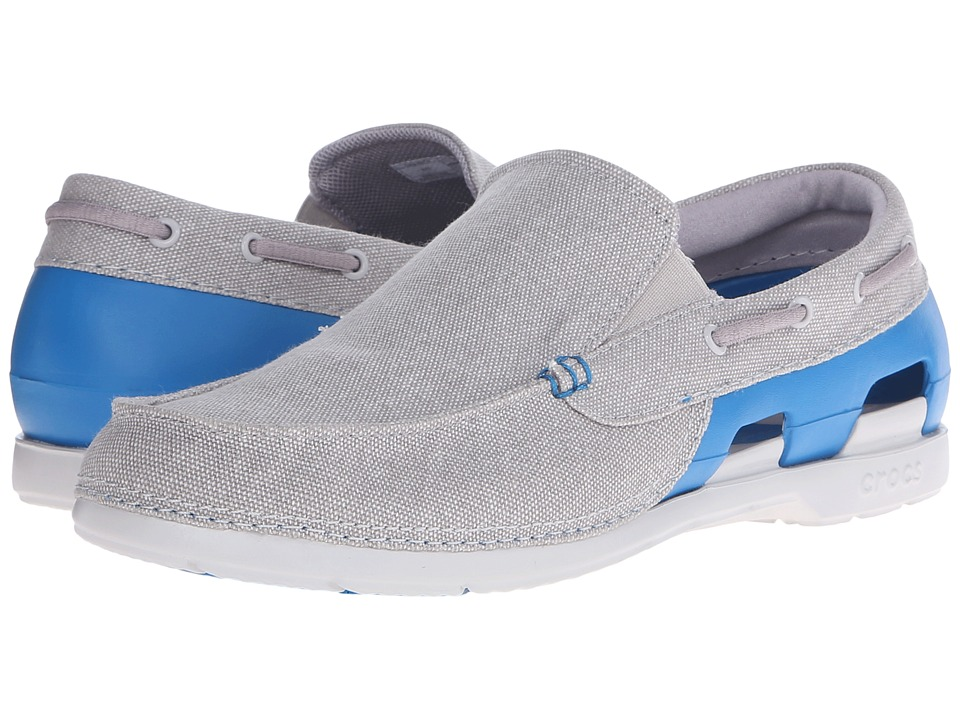 Crocs Beach Line Canvas Slip On Grey/Ultramarine Mens Slip on Shoes