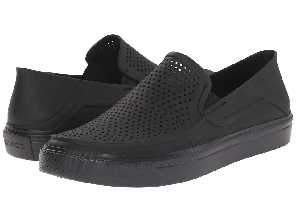 Crocs - CitiLane Roka Slip-On (Black/Black) Men