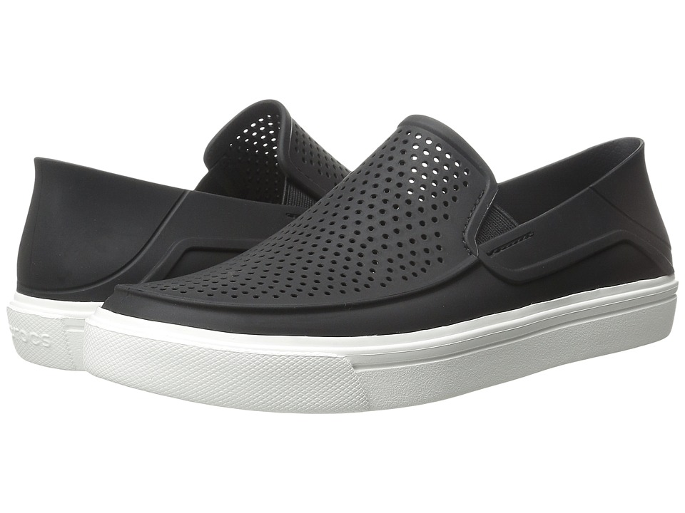 Crocs - CitiLane Roka Slip-On (Black/White) Slip on  Shoes