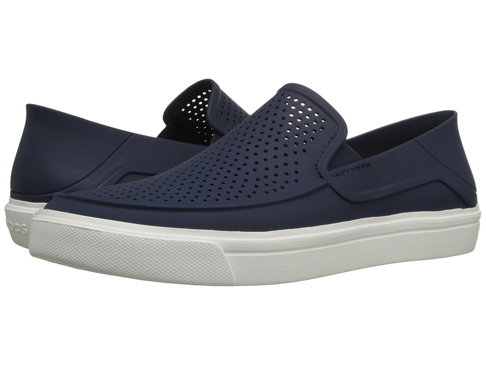 Crocs - CitiLane Roka Slip-On (Navy/White) Men