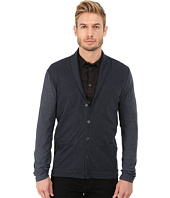 John Varvatos Star U.S.A. - Long Sleeve Shawl Collar Knit Cardigan with Tonal Sleeves K2471R4B