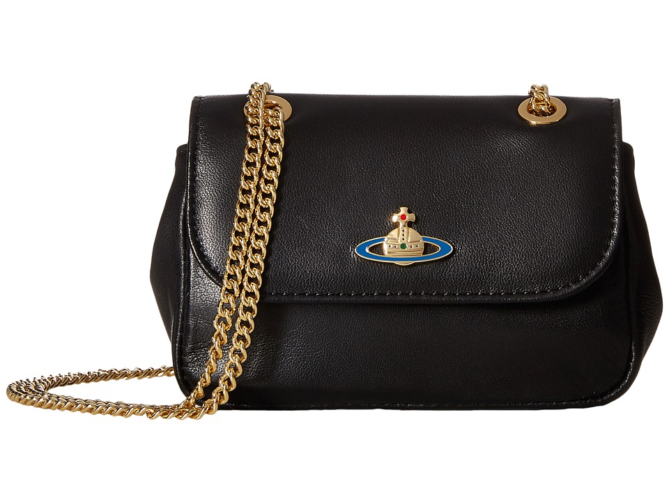 Vivienne Westwood - Braccialini Nappa Crossbody (Black) Cross Body Handbags