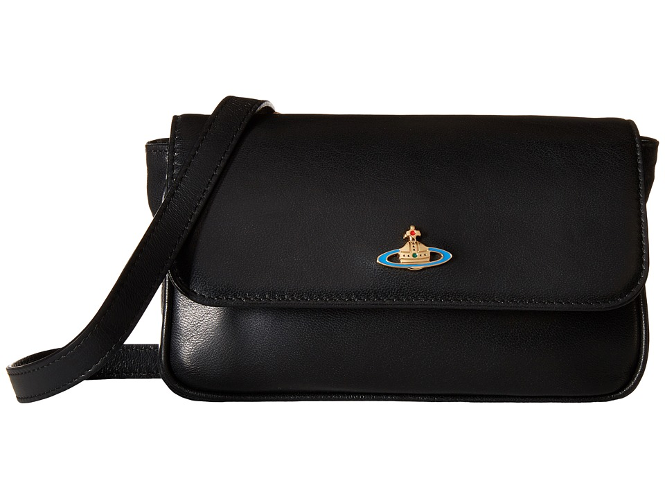 Vivienne Westwood - Braccialini Nappa Flap Bag (Black) Bags