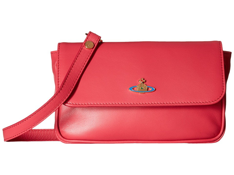 Vivienne Westwood - Braccialini Nappa Flap Bag (Begonia) Bags