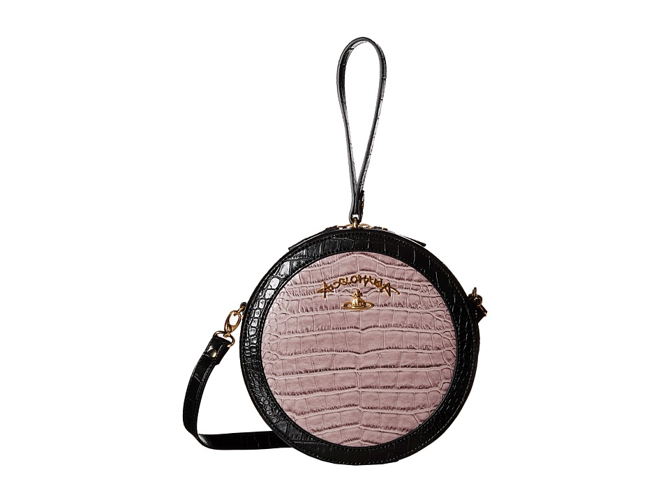 Vivienne Westwood - Braccialini Jungle Croc Bags Handbags (Black) Cross Body Handbags