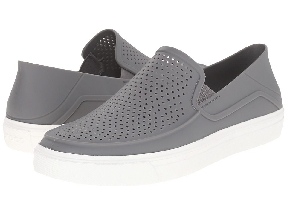Crocs CitiLane Roka Slip-On (Smoke/White) Slip on Shoes