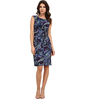 Anne Klein - Sleeveless Knot Waist Dress