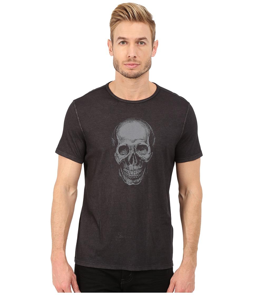 John Varvatos Star U.S.A. Ghost Skull Graphic Tee K2585R4B Black Mens T Shirt