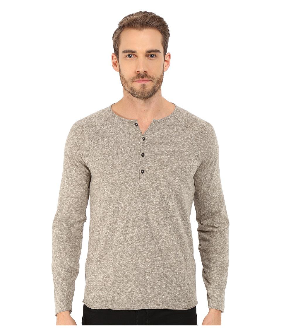 John Varvatos Star U.S.A. Long Sleeve Raglan Knit Henley K2439R4B Seaweed Mens T Shirt
